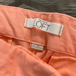 LOFT Pants - Loft peach Capri pants